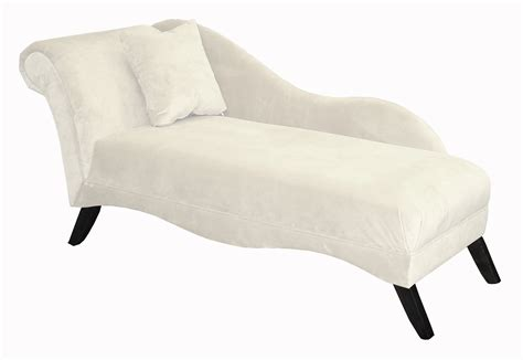 single chaise lounge white fabric lounge chair with back and single white