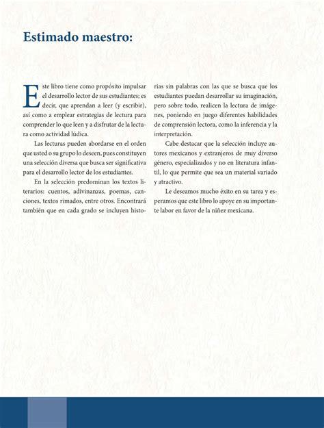 libro de lecturas sexto grado 2016 espa 241 ol libro de lectura sexto grado 2016 2017 online