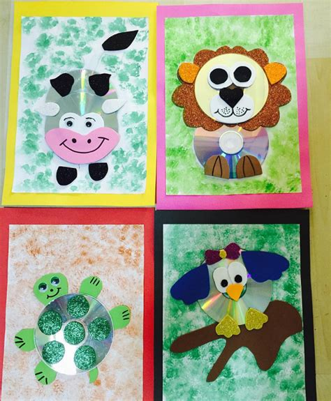 imagenes de animales hechos con cd cd animal crafts for kids crafty morning