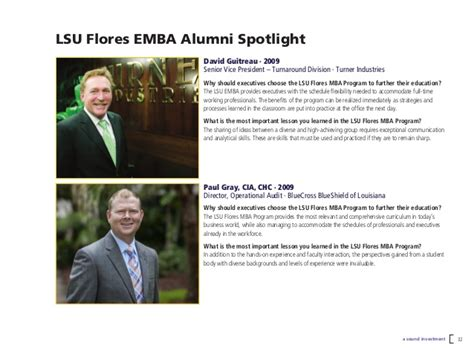 Lsu Executive Mba by Executive Mba And Professional Mba At Louisiana State