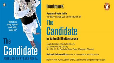 the candidate books book launch of the candidate by anirudh bhattacharyya on 9