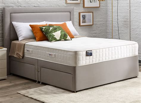 beds plus therapur actigel plus 1600 divan bed firm ash 4 6