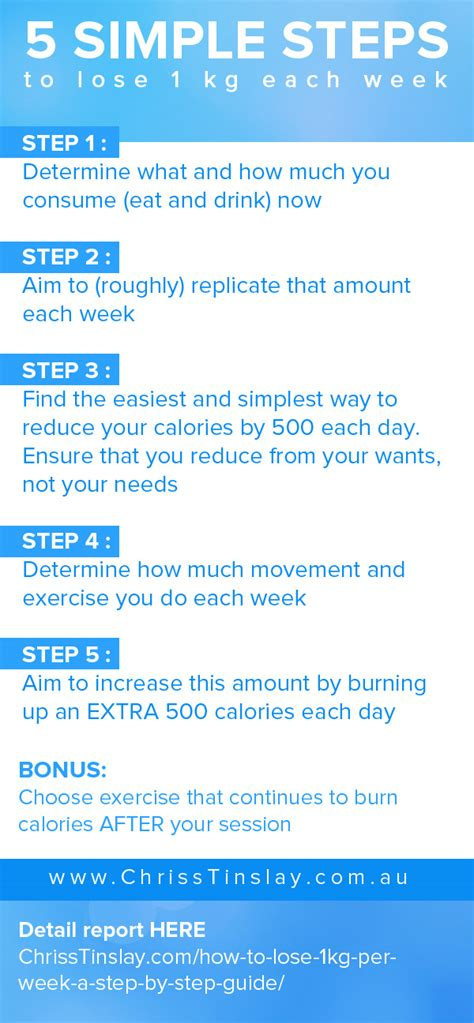 weight loss 1kg per week how to lose 1kg per week a step by step guide