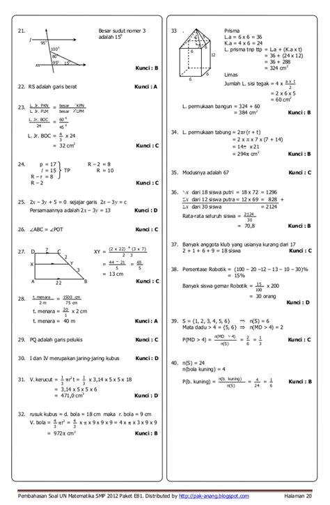 Angpao Weddinglopnikahansumbangan Nomer 20 15 Cm X 95 Cm pembahasan soal un matematika smp 2012 paket a35 b47 c61 d74 e81