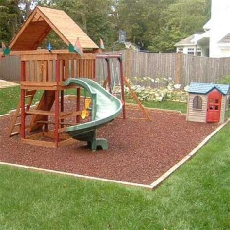rubber mat under swing set 25 best ideas about rubber mulch on pinterest mat