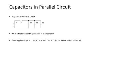 capacitor in parallel calculator unit 6 electrical and electronic principle capacitor calculations