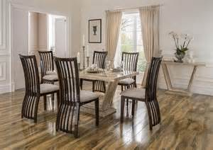 marble dining table and 6 chairs elgin 160cm marble dining table with 6 chairs blue ocean