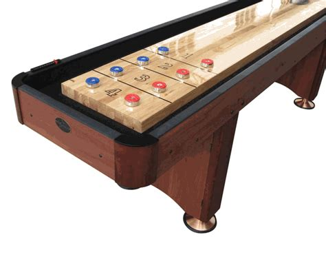 playcraft woodbridge cherry shuffleboard table 9 12