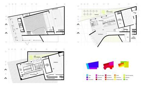 auditorium plan arquitectura educativa pinterest aqso folded auditorium basement ground floor and first