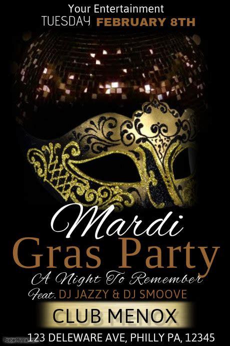 masquerade poster template mardi gras poster templates postermywall