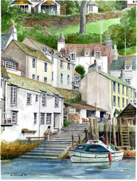 Slipway Cottage Polperro polperro harbour paintings images