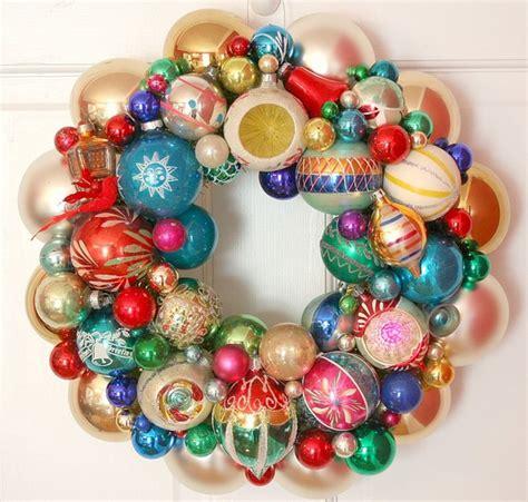 shiny brite vintage ornaments vintage ornaments wreath shiny brite fabulous