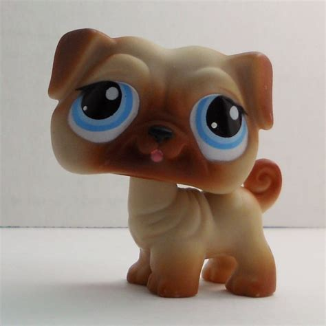 pug pet shop littlest pet shop pug 1312 brown