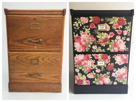 Decoupage Cabinet - furniture decoupage tutorial file cabinet makeover