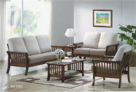 wooden sofa living room buy living room wooden sofa set from induscraft india