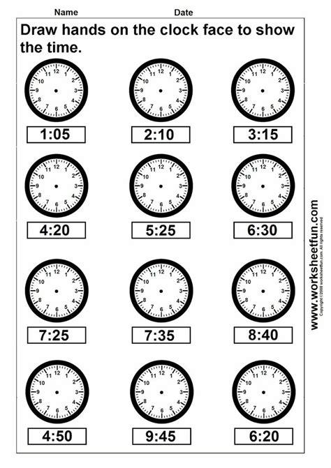 free printable time math sheets clock telling time worksheet printable worksheetfun