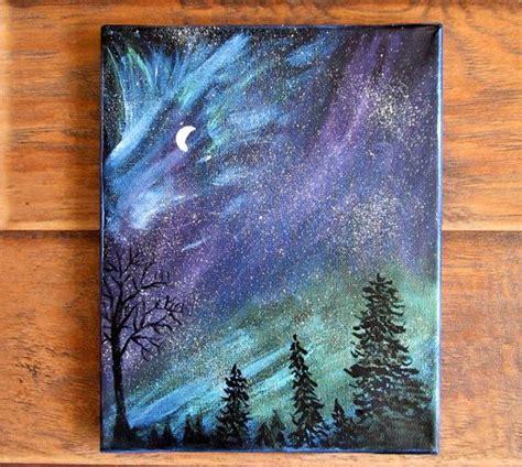 acrylic painting northern lights magical sky painting ii northern lights