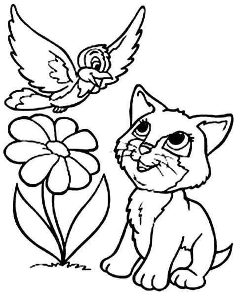 coloring pages of kitty cat kitty cat coloring pages bestofcoloring com