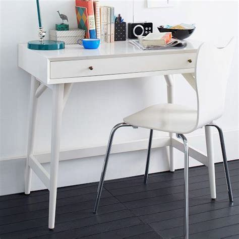 mid century mini desk white west elm