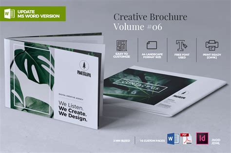 Creative Brochure Template by Creative Brochure Template Graphic By Rahardidesign