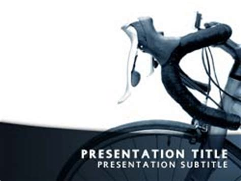 Royalty Free Cycle Powerpoint Template In Blue Bike Ppt Templates Free