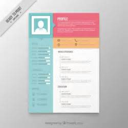 colors resume template vector premium