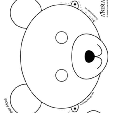 bear mask coloring page bear mask coloring page kids drawing and coloring pages