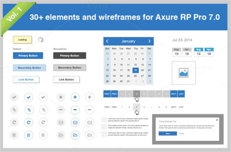 axure templates 30 elements for axure pro 7 0 vol 1 templates on