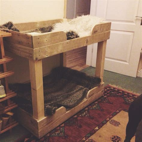 diy pallet pet bed diy pet bunk bed plans to build bed pallet furniture