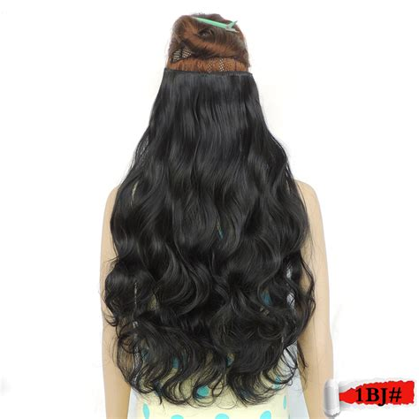 5 hair extensions 5 clip in hair extensions 28 inch 120g black color