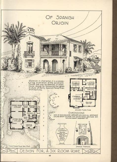 antique spanish house plans 17 best ideas about vintage house plans on bungalow floor plans craftsman floor