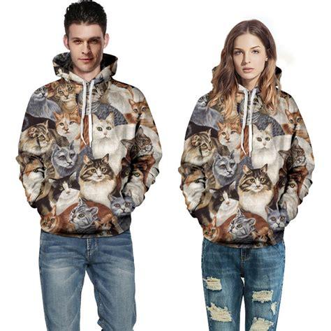 Hoodie Cat Abu 3 Wisata Fashion Shop aliexpress buy fashion unisex couples hoodies 3d print lovely cat sweatshirt