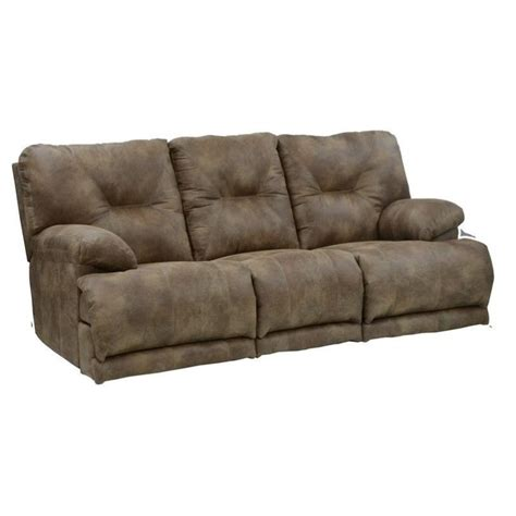 voyager lay flat reclining sofa catnapper voyager lay flat reclining sofa in brandy