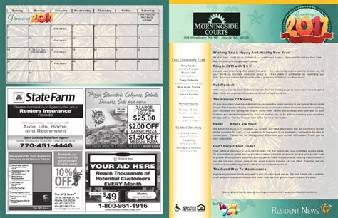 apartment community newsletter templates january sle newsletter