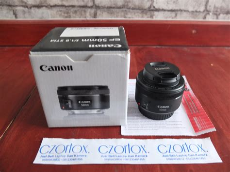 Lensa Canon 50mm F1 8 Stm lensa canon fix 50mm f1 8 stm like new jual beli kamera