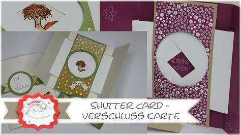 carding tutorial german zauberkarte shutter card deutsches tutorial peek a boo