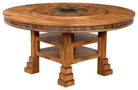 sedona table with lazy susan southwestern dining
