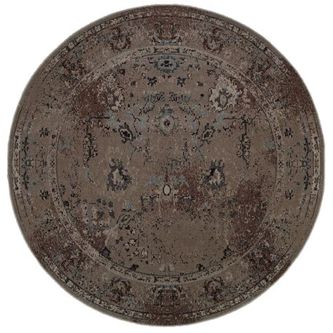 30 round rugs and exles of how to complete the look of over dyed distressed traditional grey black area rug 7 8