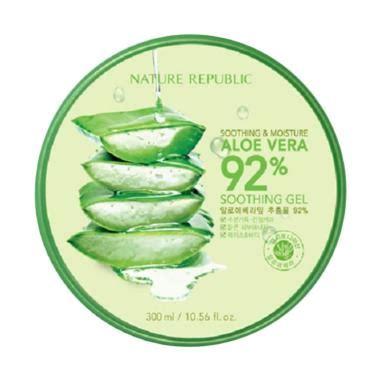 Pelembab Nature Republic jual original nature republic aloe vera 92 soothing gel 300ml harga kualitas