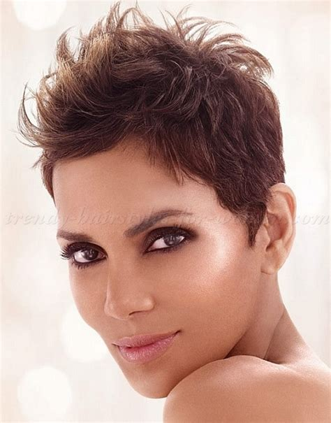 short hairstyles halle berry short messy hairstyle