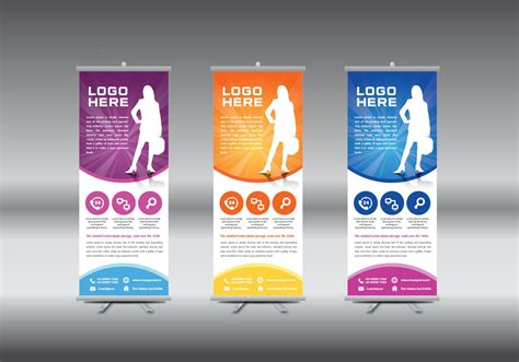 roll  banner template vector illustration