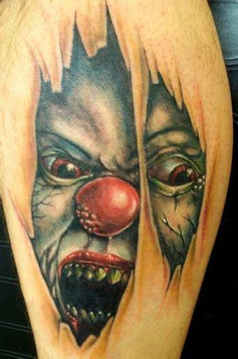 tattoo 3d clown 32 beautiful 3d leg tattoos