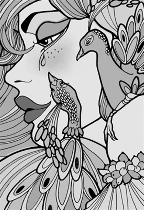 peacock coloring page adults adult coloring pages peacock coloring home