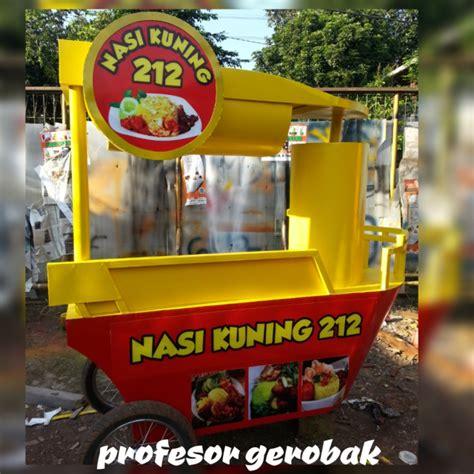 model gerobakgambar booth unik  modern