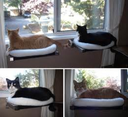Hilary s diy window perches with cozy fleece beds moderncat