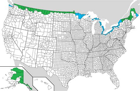 map of us canada border file us canada border counties png