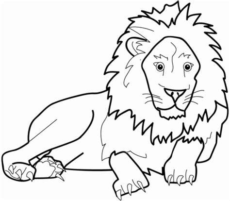 scary lion coloring page 동물 색칠공부 프린트자료 네이버 블로그