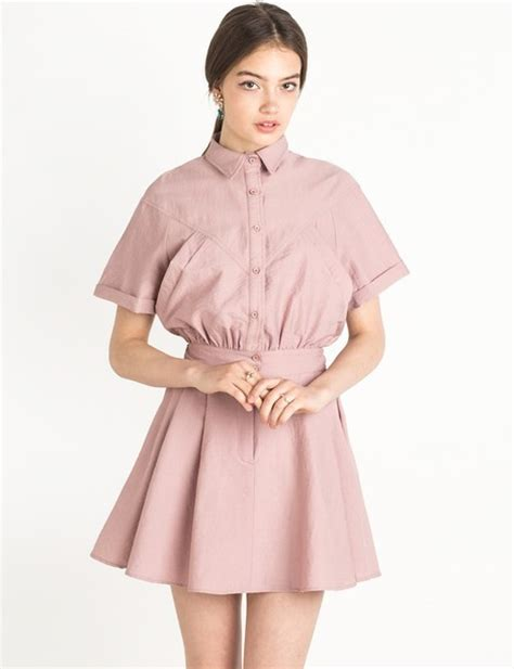 Dress Korea Pink 3 dress shirt dress pink dress girly dress korean fashion korean style korean