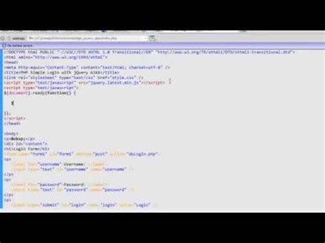 tutorial netbeans javascript netbeans php jquery tutorial ajax login 9 doovi