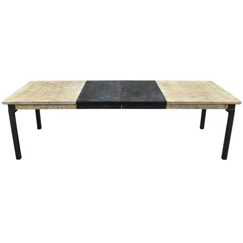 Two Tone Wood Dining Table Monumental Luxe Two Tone Burl Wood Dining Table For Sale At 1stdibs